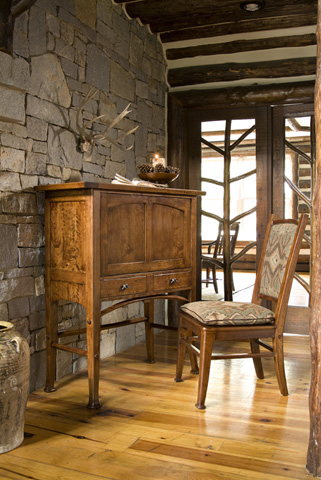 Image of Thunder Writing Desk with Birch Trim