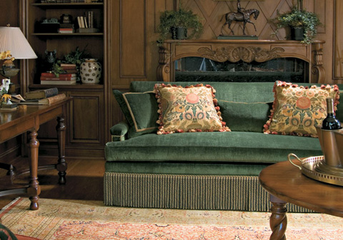 Harden Furniture - Fringe Skirted Upholstered Sofa - 8514-084