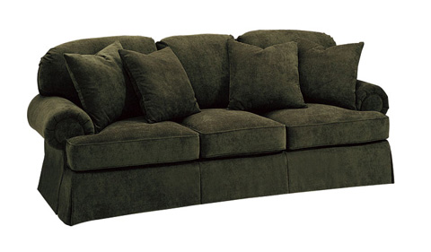 Harden Furniture - Upholstered Sofa with Carved Bun Foot - 8654-096