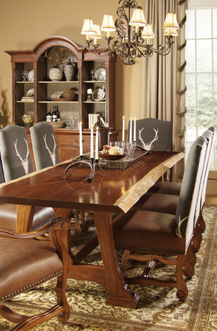 Harden Furniture - Live-Edge Trestle Base Dining Table - 1679-100