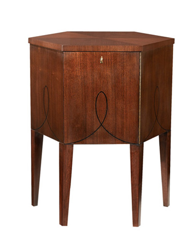 Image of Hexagonal Hatbox Accent Table