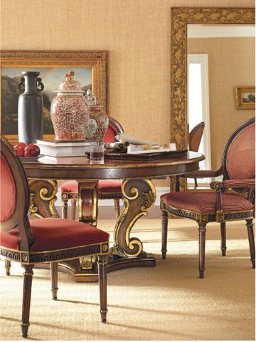 Henredon - Oval Back Arm Chair - 4500-27