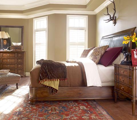 Henredon - King Upholstered Sleigh Bed - 3401-12HF/3401-12R