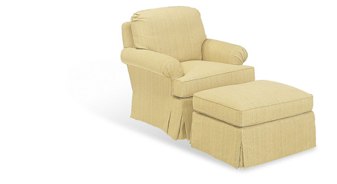 Hickory Chair - Carolyn Made To Measure Ottoman - 107-53