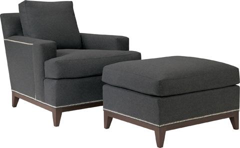 Hickory Chair - 9th Street Ottoman - 122-29