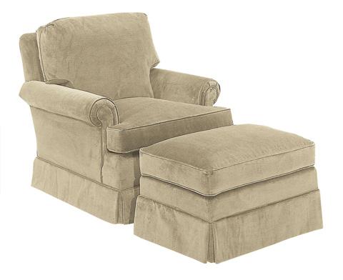 Hickory Chair - Suffolk Ottoman - 500-29