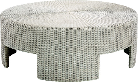 Image of Wicker Round Coffee Table