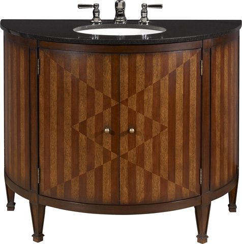 Hickory Chair - Continental Demilune Cabinet - 7797-10