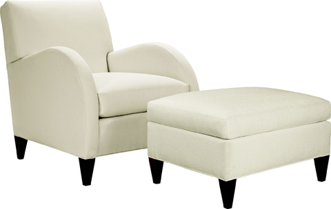 Hickory Chair - Liv Ottoman - 1007-29