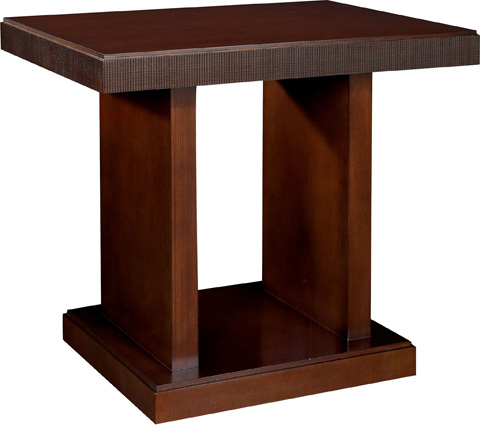Hickory Chair - Chase Reeded Cocktail Table - 1680-70