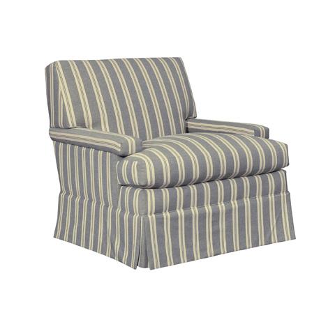 Hickory Chair - MacDonald Skirted Ottoman - 5417-29