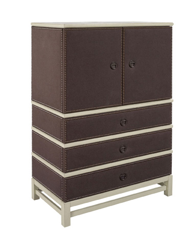 Hickory Chair - Remy Two Door Upholstered Cabinet - 9572-72