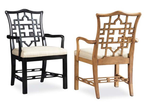 Hickory White - Carved Back Arm Chair - 791-63