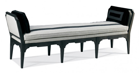 Hickory White - Exposed Wood Bench with Arms - 4648-20