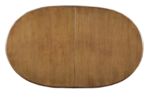 Hickory White - Oval Dining Table - 630-12