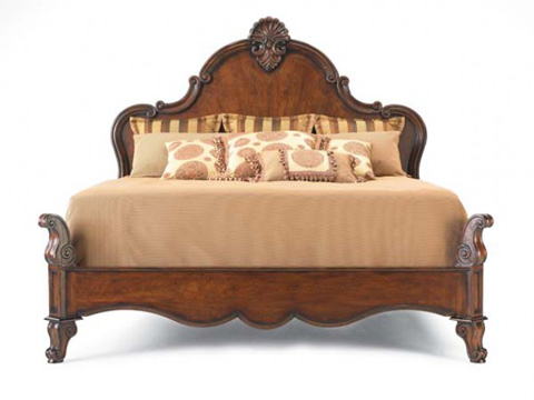 Hickory White - King Panel Bed - 175-22