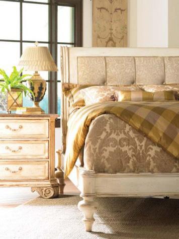 Hickory White - King Upholstered Bed - 175-24