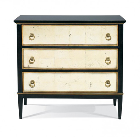 Hickory White - Tracery Chest with Eglomise Drawers - 245-62E