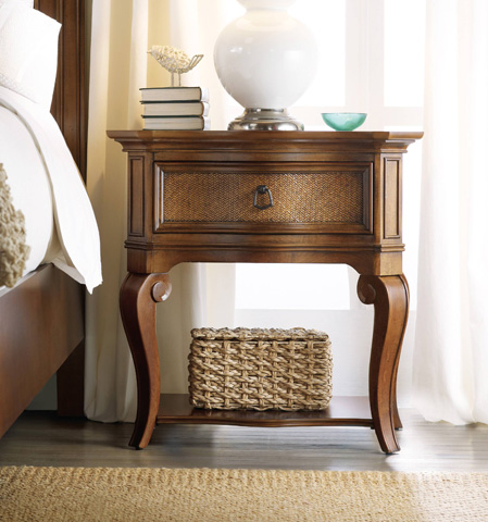 Hooker Furniture - Windward Raffia Leg Nightstand - 1125-91116