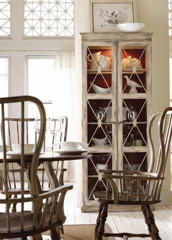Hooker Furniture - Sanctuary Two-Door Thin Display Cabinet - Dune - 3002-50002