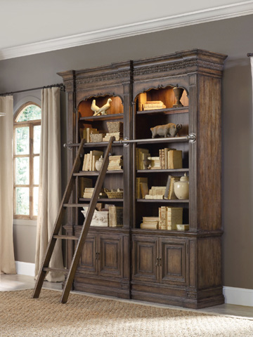 Hooker Furniture - Double Bookcase with Ladder and Rail - 5070-10225