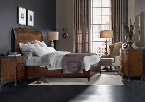 Hooker Furniture - Skyline King Platform Sleigh Bed - 5336-90566