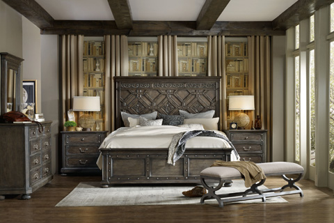 Hooker Furniture - Vintage West King Wood Panel Bed - 5700-90266