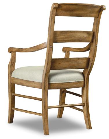Hooker Furniture - Archivist Ladderback Arm Chair - 5447-75700-TOFFEE