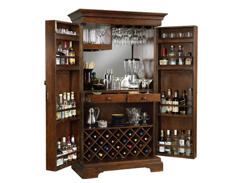 Howard Miller Clock Co. - Sonoma Wine and Bar Cabinet - 695-064