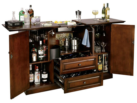 Howard Miller Clock Co. - Bar Devino Wine and Bar Cabinet - 695-080