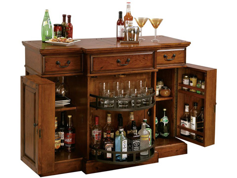 Howard Miller Clock Co. - Shiraz Wine and Bar Cabinet - 695-084