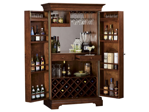 Howard Miller Clock Co. - Barossa Valley Wine and Bar Cabinet - 695-114