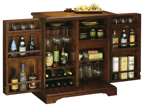 Howard Miller Clock Co. - Lodi Wine and Bar Cabinet - 695-116