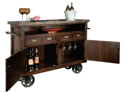 Howard Miller Clock Co. - Barrows Wine and Bar Cabinet - 695-146
