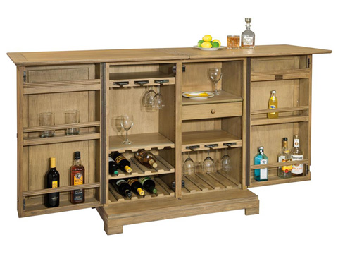 Howard Miller Clock Co. - Walker Bay Wine and Bar Cabinet - 695-158