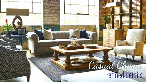 Huntington House - Leather Tufted Sofa - 7498-80