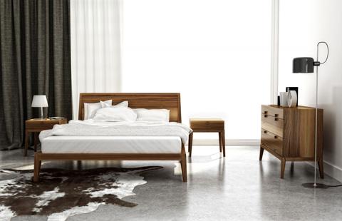 Huppe - King Platform Bed - 002153-BED