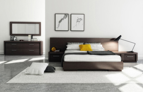 Huppe - Queen Platform Bed with Extenders - 009649-BED