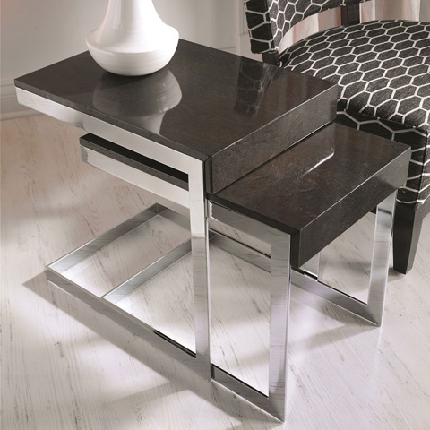 Hurtado - Nesting Tables with Drawer - Q71017