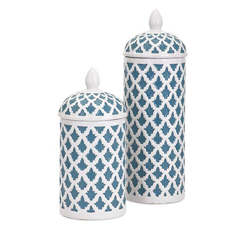 IMAX Worldwide Home - Dolce Large Ceramic Canister - 11725