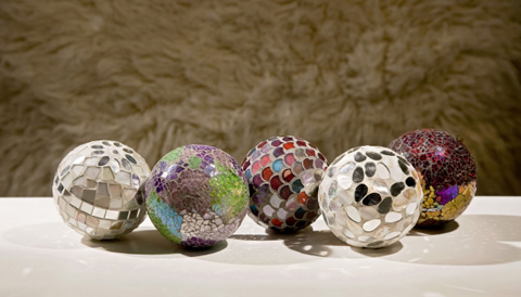 IMAX Worldwide Home - Abbot Mosaic Deco Balls - Set of 5 - 1994-5