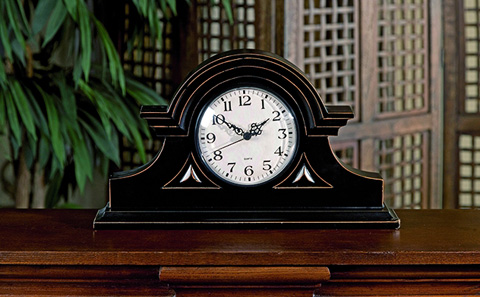IMAX Worldwide Home - Black Mantel Clock - 2631