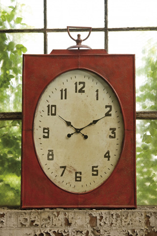 IMAX Worldwide Home - Carnen Oversized Red Wall Clock - 47329