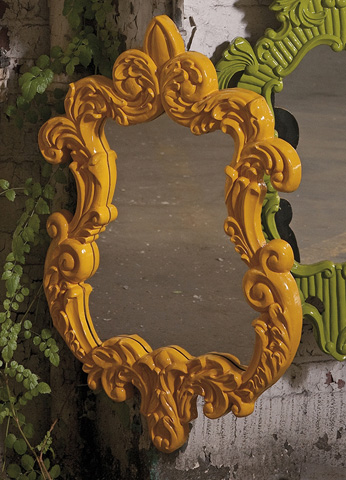 IMAX Worldwide Home - Finely Yellow Baroque Wall Mirror - 47381