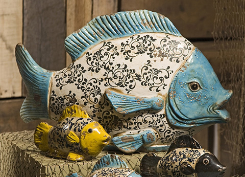 IMAX Worldwide Home - Bates Ceramic Fish - 50305