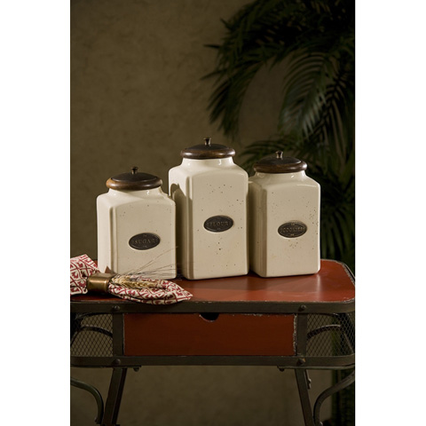 IMAX Worldwide Home - Ivory Canisters - Set of 3 - 5358-3
