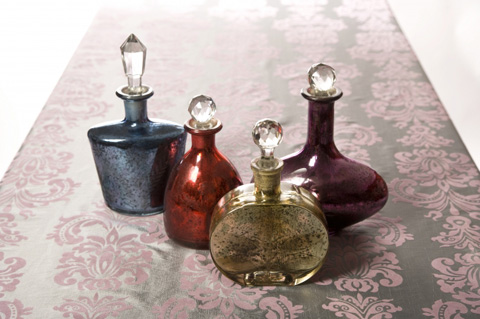 IMAX Worldwide Home - Moulin Glass Decanters - Set of 4 - 60882-4