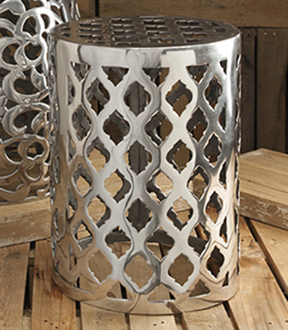 IMAX Worldwide Home - Nichole Aluminum Garden Stool - 60992