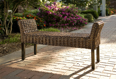 IMAX Worldwide Home - Caspian Woven Bench - 67031