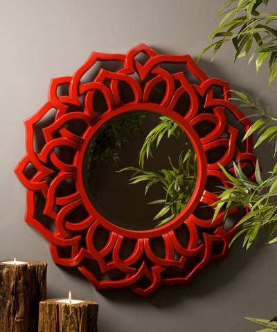 IMAX Worldwide Home - Calantha Red Wall Mirror - 70384